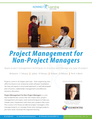 Project Management for Non-Project Managers - Konnect Learning