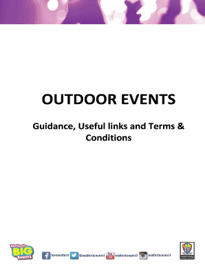 2 - Event Guidance terms and conditions useful links and sample documents