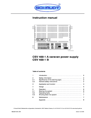 fillable online web adria instruction manual csv 400 1 a. Black Bedroom Furniture Sets. Home Design Ideas