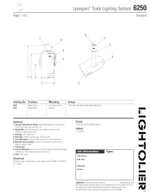Fillable Online Lytespan Track Lighting