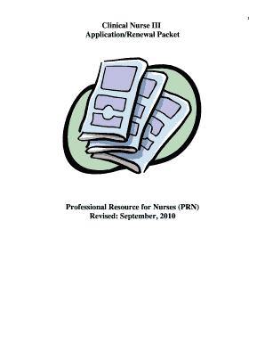 Fillable Online prnatech CN III Application Packet, 2010