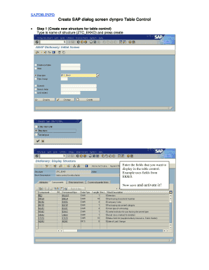 Fillable ekko sap table Forms and Document Templates to