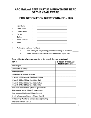 Questionnaire for travel agency forms and templates fillable arc national herd of the year award questionnaire 2014 maxwellsz