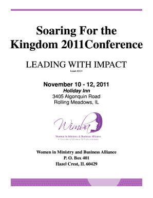 Conference brochure - Women in Ministry and Business Alliance - womenofvalorministry