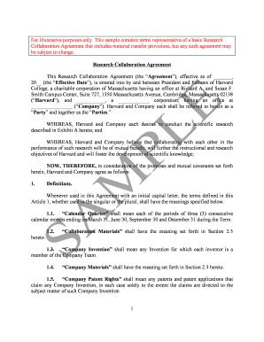 fillable sample collaboration agreement letter edit online