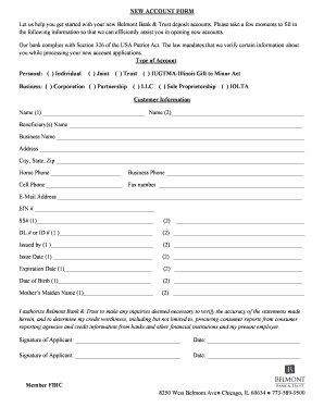 NEW ACCOUNT FORM.rtf  New Customer Account Form Template
