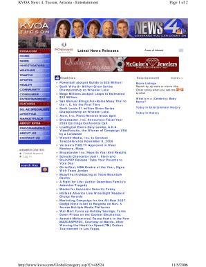 News 4 Tucson >> Fillable Online Page 1 Of 2 Kvoa News 4 Tucson Arizona