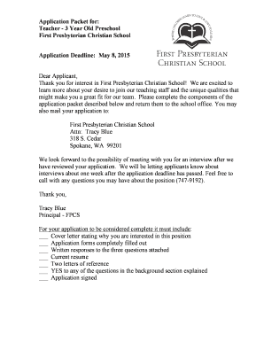 Fillable Online FPC Application Form - preschool teacher.doc Fax ...