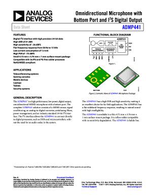 Fillable Online kyohritsu ADMP441 Rev B Omnidirectional