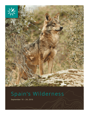 Spain wildlife tours brochure with itinerary and ... - Apex Expeditions