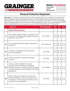 osha hazard assessment checklist edit print download. Black Bedroom Furniture Sets. Home Design Ideas