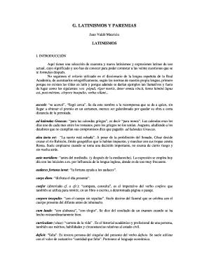curriculum vitae latinismos