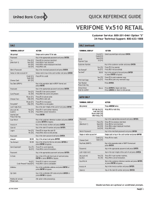 VERIFONE Vx510 RETAIL - Harbortouch Fill Online, Printable
