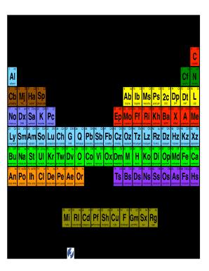 Fillable online periodic table of the intoxicants fax email print fill online urtaz Choice Image