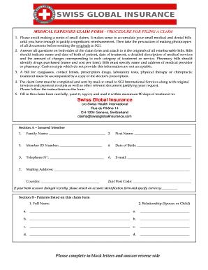 medical bill format for reimbursement - Fill Out Online ...