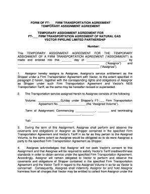 VPCN Firm Transportation Agreement Temporary Assignment 10-15-07doc