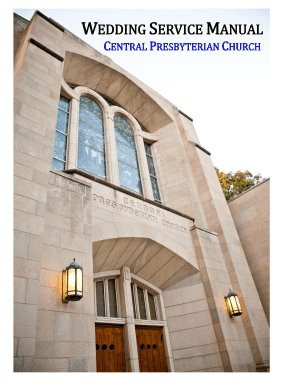 Wedding service manual - Central Presbyterian Church