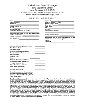 21 Printable Storage Space Rental Agreement Forms And