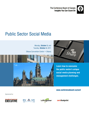 Public Sector Social Media - Conference Board of Canada - conferenceboard