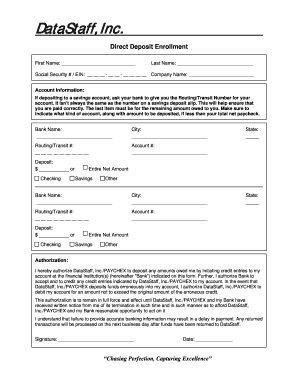 Direct Deposit Form Paychex Fill Online Printable Fillable
