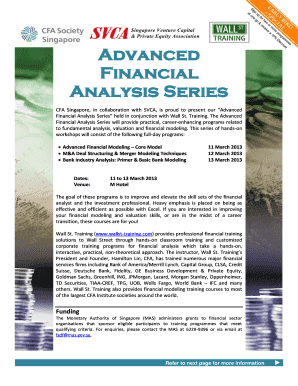 Advanced bFinancialb Analysis Series - Societies