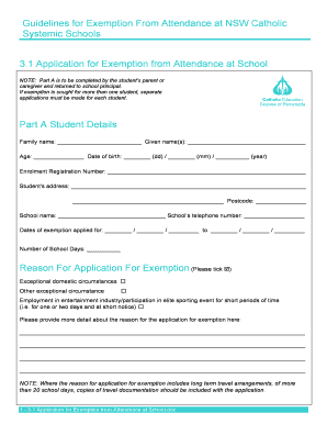 3-1 Application for Exemption from Attendance at School.doc