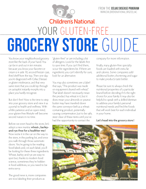 YOUR GLUTEN-FREE Grocery Store GUIDE