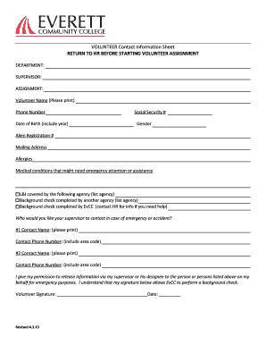 employee contact sheet