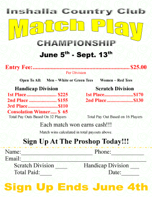 Sign Up At The Proshop Today - Inshalla Country Club