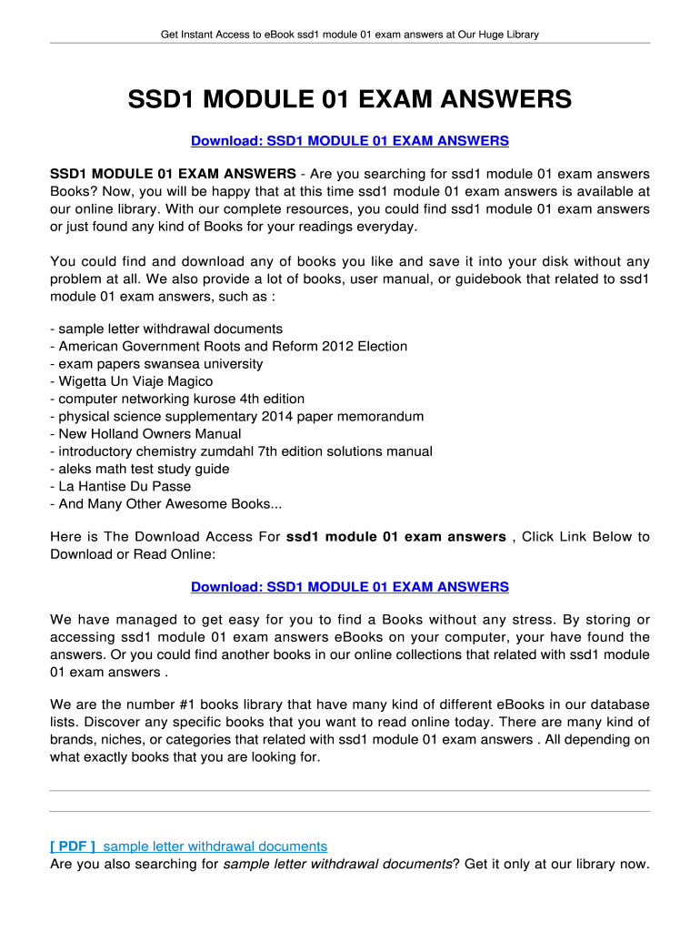 Ssd1 Module1 Test Answers - Fill Online, Printable, Fillable