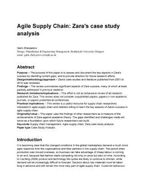 agile supply chain zaras case study analysis galin zhelyazkov