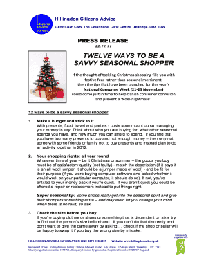 CAB Press Release - Savvy Seasonal Shopper tipsdoc
