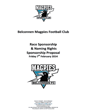 naming rights sponsorship proposal - Edit, Fill, Print & Download