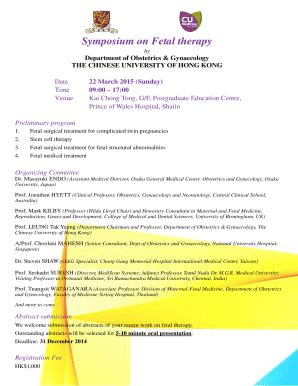 symposium on fetal therapy fetal medicine homepage