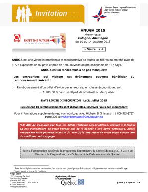 anuga application form