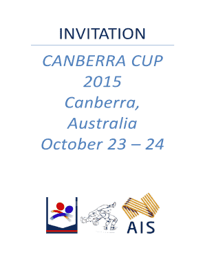 INVITATION CANBERRA CUP 2015 Canberra, Australia October 23 ...