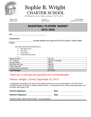 charter school proposal template - budget proposal template forms fillable printable