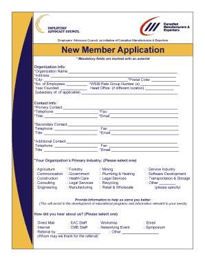 New Member Application - Page 3 of 3 - Employers' Advocacy Council - eacforemployers