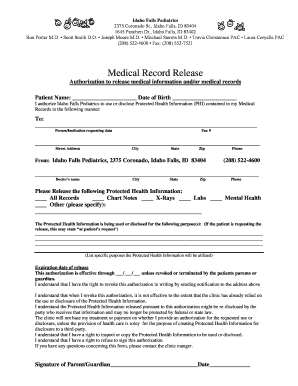 Bill Of Sale Form Idaho Medical Release Form Templates - Fillable ...
