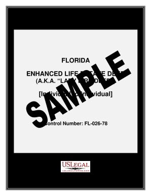 Fillable Online FLORIDA ENHANCED LIFE ESTATE DEED Individual to ...