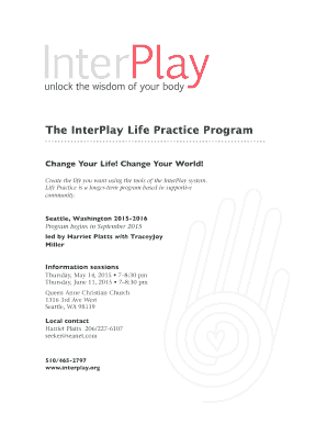 The InterPlay Life Practice Program Change Your Life