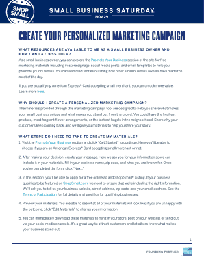 Create your personalized marketing campaign - American Express