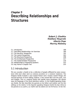 Chapter 5 Describing Relationships and Structures