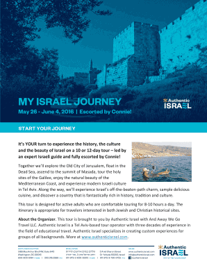 MY ISRAEL JOURNEY - Authentic Israel