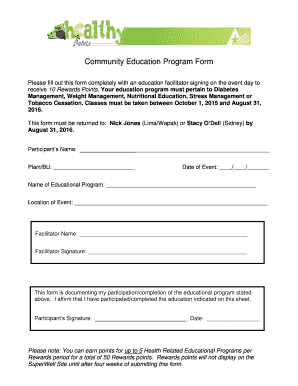 Community Education Program Form - bemployeebbamtrimbbcomb