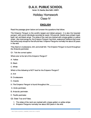 dav public school dwarka sector 6 holiday homework