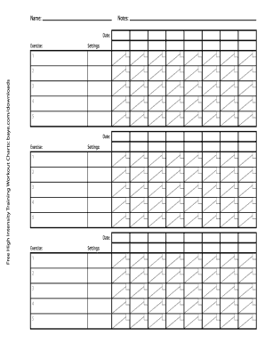 printable free workout chart form templates to submit in pdf online