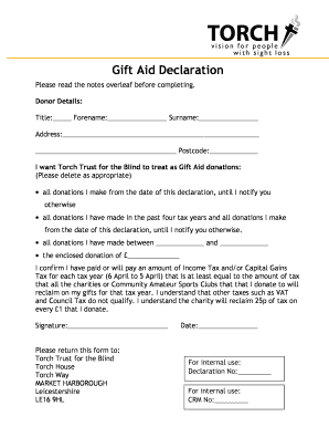 Fillable online torchtrust gift aid declaration form 2013 04c fill online negle Images