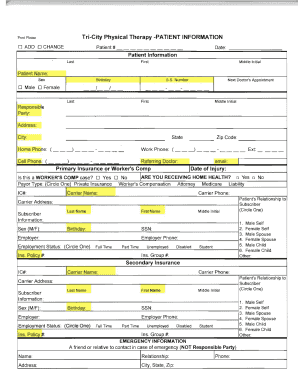 fillable online tricitypt download and print new patient forms tri