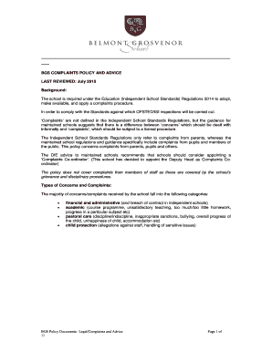 Pghs complaints policy - Belmont Grosvenor School - belmontgrosvenor co